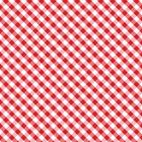 διαγώνια gingham ανασκόπησης κόκκινη άνευ ραφής ύφανση Στοκ Φωτογραφία