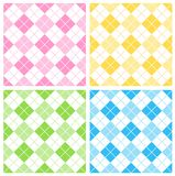 Gingham background. Cute seamless gingham patterns collection specially for spring summer themed seasonal designs Stock Photography