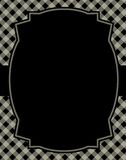 Gingham background. Black gingham / squares background with frame. & ribbon specially occasion greeting cards & invitations Stock Photography