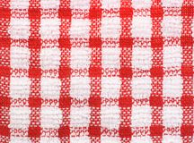 Gingham background. Red and white checkered pattern texture of gingham for background Stock Photography