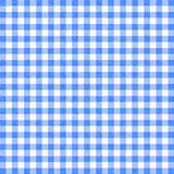 Gingham background. Blue gingham tablecloth background or texture Royalty Free Stock Photography