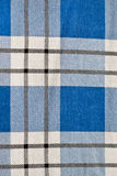 Gingham. Background of blue and white gingham Stock Photo