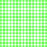 Gingham background. Green gingham tablecloth background or texture Royalty Free Stock Photography