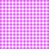 Gingham background. Purple gingham tablecloth background or texture Stock Images