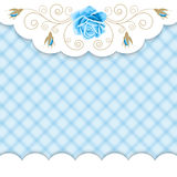 Gingham background with roses Royalty Free Stock Photography