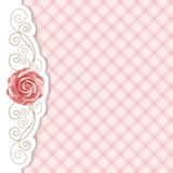 Gingham background with roses Stock Image