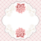Gingham background with roses Royalty Free Stock Image
