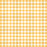 Gingham background. Yellow gingham tablecloth background or texture Stock Photo