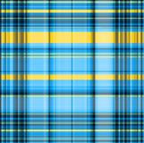 Gingham blurred pattern in black, blue and yellowspectrum Royalty Free Stock Images