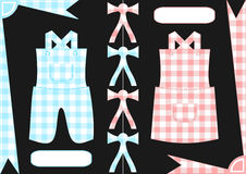 Gingham boy and girl clothings Stock Image