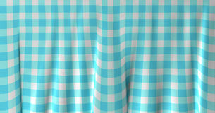 Gingham cloth background with fabric texture Stock Photo