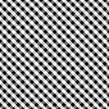 Gingham Cross Weave, Black, Seamless Background. Seamless gingham pattern in black and white for arts, crafts, fabrics, decorating, albums and scrapbooks. EPS8 Royalty Free Stock Image
