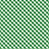 Gingham Cross Weave, Green, Seamless Background Stock Photography