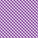 Gingham Cross Weave, Purple, Seamless Background Royalty Free Stock Photo
