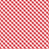 Gingham Cross Weave, Red, Seamless Background Stock Photography