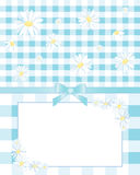 Gingham and daisies Stock Photos