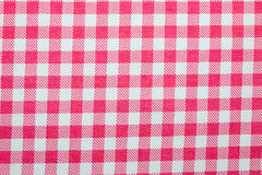 Gingham fabric background. Close up of gingham fabric Stock Photos