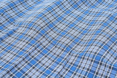 Gingham fabric. Blue and white gingham fabric Royalty Free Stock Photography