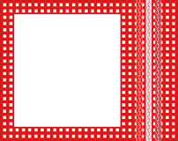 Gingham frame. An illustration of a red gingham fabric frame with ribbons. Also available in vector format Royalty Free Stock Images