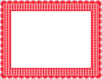 Gingham Frame. Gingham patterned frame with scalloped border Stock Images