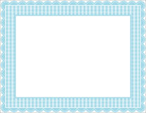 Gingham Frame. Gingham patterned frame with scalloped border Stock Photo