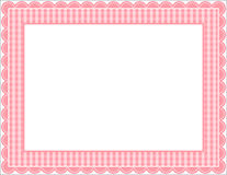 Gingham Frame. Gingham patterned frame with scalloped border Royalty Free Stock Photos
