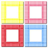 Gingham frames. An illustration of gingham frames on white. Space for text or image insertion Royalty Free Stock Images