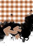 Gingham Grunge Hintergrund Lizenzfreie Stockfotografie