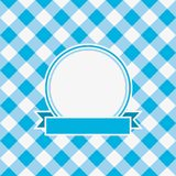 Gingham invitation card template with frame and ribbon. Vector. Gingham invitation card template with frame and ribbon. Vector illustration Stock Image