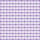 gingham kolorze lila bezszwowy pastelowy serc Zdjęcie Stock