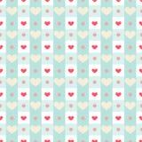 Gingham mit Herzen Stockbilder