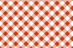 Gingham-Orange und wei?es Muster Beschaffenheit von der Raute/von den Quadraten f?r - Plaid, Tischdecken, Kleidung, Hemden, Kleid stock abbildung