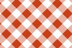 Gingham-Orange und wei?es Muster Beschaffenheit von der Raute/von den Quadraten f?r - Plaid, Tischdecken, Kleidung, Hemden, Kleid lizenzfreie abbildung