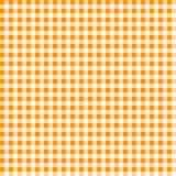 Gingham Orange and White Pattern. Gingham Classic Style orange and White Seamless Pattern With Speckle Effect 3D Illustartion royalty free illustration
