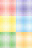 Gingham Pattern. This is a  illustration of multicolored swatches with a gingham pattern. This patterns are seamless and can be used separately Royalty Free Stock Image