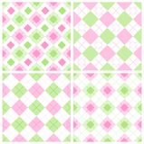 Gingham pattern. Cute seamless gingham patterns collection specially for spring themed seasonal designs Stock Image