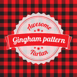 Gingham pattern, checkered seamless background Stock Image