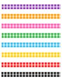 Gingham pattern divider Royalty Free Stock Images