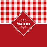 Gingham pattern menu design Royalty Free Stock Images