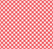 Gingham Pattern in Red and White royalty free illustration