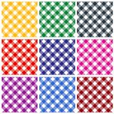 Gingham patterns vector illustration