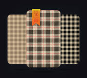 Gingham Patterns and buffalo check plaid patterns. Royalty Free Stock Image