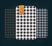 Gingham Patterns and buffalo check plaid patterns. Stock Image