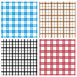 Gingham patterns. Set of different gingham patterns Stock Image