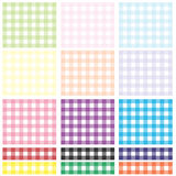 Gingham Plaid Checks Set Stock Photos