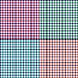 Gingham plaids. Gingham check plaid vector backgrounds stock illustration