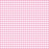 gingham różowy pastelowe bezszwowe Fotografia Stock