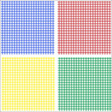 Gingham red blue green yellow Royalty Free Stock Images