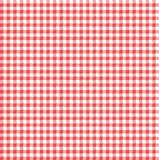 Gingham-rotes und wei?es nahtloses Muster lizenzfreie stockfotografie