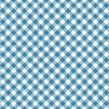 Gingham seamless blue pattern. Tablecloths texture, plaid background. Typography graphics for shirt, clothes. Vector Royalty Free Stock Images